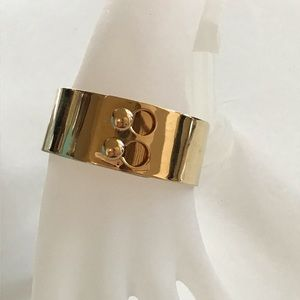 J Crew with madewell gold double glider bracelet